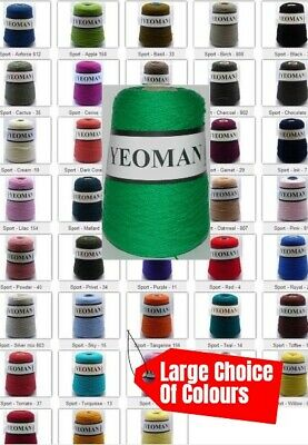 Pure Virgin Merino Wool Yeoman Sport 4ply Machine Washable 400g Colour Choice • 25.95£