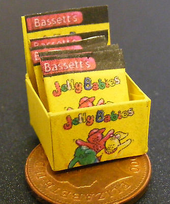 1:12 Scale Display Box Of Jelly Babies Packet Tumdee Dolls House Miniature Sweet • 3.99£