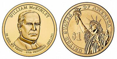 $3.49 • Buy 2013-P  William McKinley  PRESIDENTIAL DOLLAR COIN
