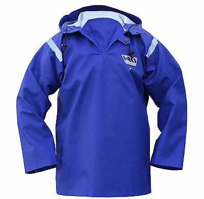 Vass Performance Rainwear Oilskin Smock Blue Vass-tex 550 Extreme Waterproof • 65.50£