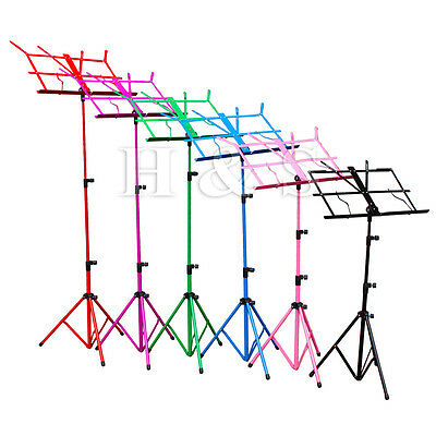 Top Quality Metal Folding Sheet Music Stand Holder Tripod Base Foldable + Case C • 5.99£