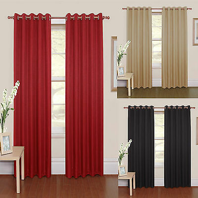 £33.99 • Buy  Rome  Lined Heavy Designer Eyelet Ring Top Ready Made Curtains