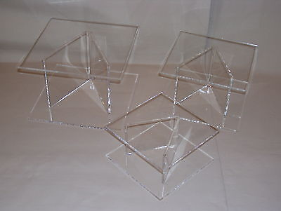 Clear Acrylic Wedding/cake Separators Display Stands • 17.99£