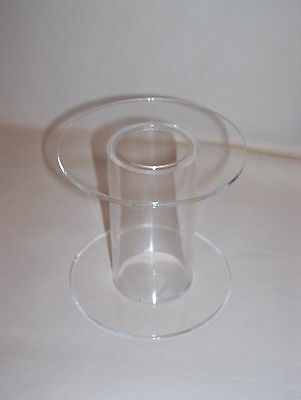 Clear Acrylic Perspex Cake Stand Display Separator Tube • 12.99£