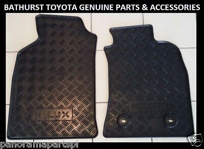 AU54.99 • Buy Toyota Hilux Rubber Floor Mats Front Pair July 2011- June 2015 All Genuine