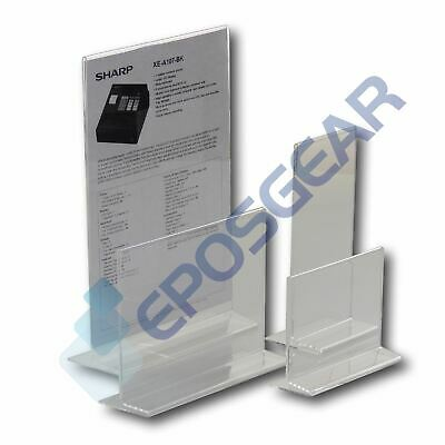 A4 A5 A6 DL Double Sided Acrylic Perspex Menu Sign Display Holder Counter Stand • 5.90£