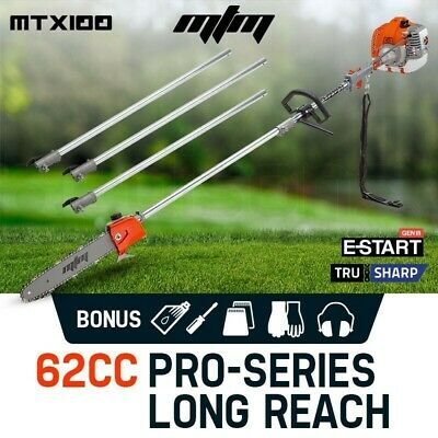 AU199 • Buy MTM 62CC Pole Chainsaw Saw Petrol Chain Tree Pruner Extended Extension Cutter