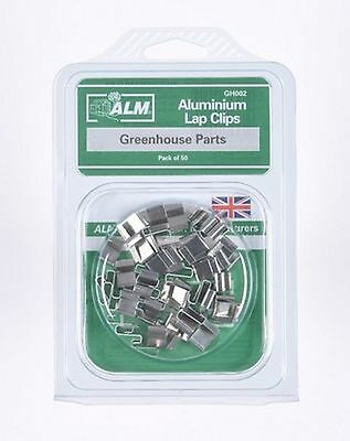 Pack Of 50 Greenhouse Aluminium Z Lap Window Glazing Clips • 5.49£