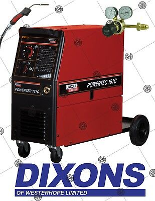 £1131 • Buy Lincoln Electric Powertec 161C MIG Welder Welding Package 150amp Single Phase