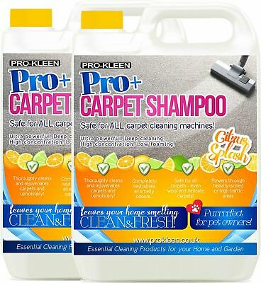 ProKleen Carpet Cleaning Shampoo Solution Pet Odour Remover Cleaner 10L • 20.95£
