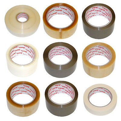£15.60 • Buy Vibac Parcel Packing Packaging Tape Clear Buff - Various Tapes And Quantities