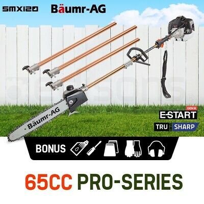 AU224 • Buy Baumr-AG 65CC Pole Chainsaw Saw Petrol Chain Tree Pruner Extendable Cutter