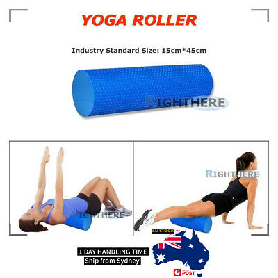 AU16.19 • Buy 45x15cm YOGA AB ROLLER EVA PHYSIO FOAM PILATES BACK GYM EXERCISE MASSAGE POINT
