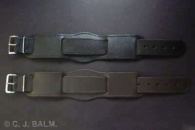£13.50 • Buy Quality 22mm Vintage Military Style Leather Watch Strap - Black Or Brown