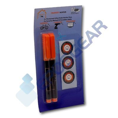 2 Permanent Ultra Violet Security Property Marker Marking Pens Invisible UV Ink • 2.90£