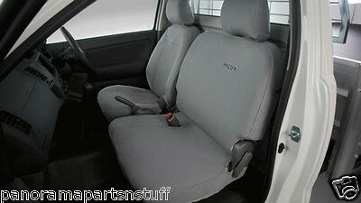 AU171.43 • Buy Toyota Hilux Front Canvas Seat Covers Bucket Bench Seats Workmate GENUINE NEW*