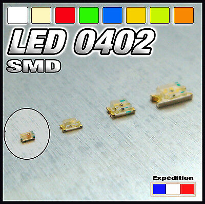 $5.45 • Buy A144# SMD LED 0402 Available White, Warm White, Red, Blue, Yellow, Orange, Green