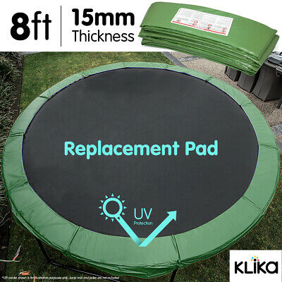AU65 • Buy GREEN 8ft REPLACEMENT REINFORCED OUTDOOR ROUND TRAMPOLINE SPRING PAD COVER