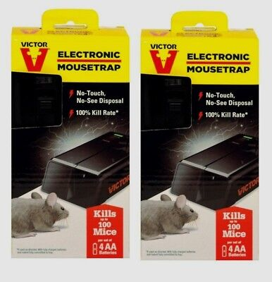 2 VICTOR Electronic Mouse Trap No Touch Multi-Use Battery Pest Control M250S NEW • 40.18£