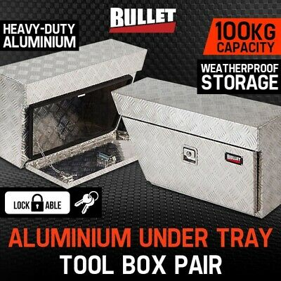 AU219 • Buy Pair Of BULLET Under Tray Ute Tool Boxes Aluminium Vehicle Box Body Toolbox