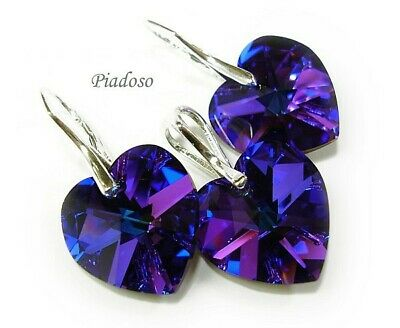 Genuine Jewellery Set Swarovski Crystals *helio Heart* Sterling Silver • 49£