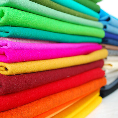 100% Wool Felt Fabric - Approx 1mm Thick - Made In Western Europe - 42 Colours • 8.19£