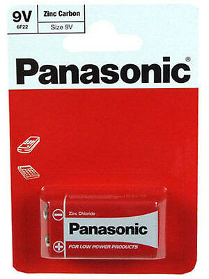 OFFICIAL PANASONIC HEAVY DUTY 9v 9 VOLT BLOCK BATTERY CELL PP3 GENUINE • 1.50£
