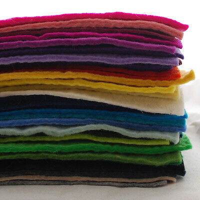 100% Wool Felt Fabric-Approx 5mm Thick-Handmade-12  Square Or 1 Metre Length • 6.99£