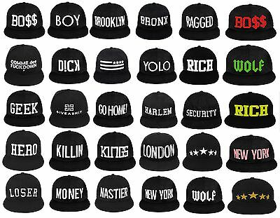 NEW BASEBALL CAP Caps HAT SNAPBACK Bad Hair Day YOLO GEEK NEW YORK  • 12.99£