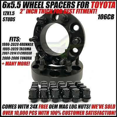 $74.95 • Buy 6x5.5 Hub Centric 2 Inch Wheel Spacers For Toyota 4Runner Tacoma 50mm 6x139.7