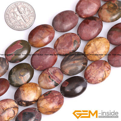 £5.29 • Buy Natural Picasso Jasper Gemstone Oval Beads For Jewelry Making Strand 15  Yao-Bye