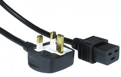 Uk Mains Lead  To IEC C19 -13 Amp Moulded Plug Power Cord 16 Amp Rated Cable • 8.52£