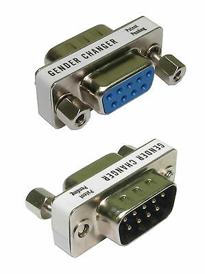£2.96 • Buy 9 Pin Serial Port Cable Saver Male To Female Gender Changer Convertor Adapter D9
