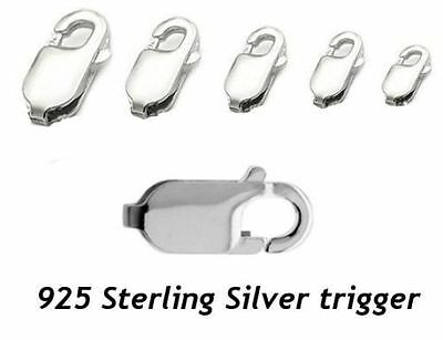 S5 925 Sterling Silver Bracelet Chains Lobster Trigger Clasp Size 8mm To 18mm • 9.25£