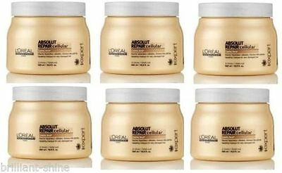 L'Oreal Professionnel Absolut Repair Cellular Masque For ++Damaged Hair 500ml X6 • 109.95£