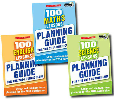£34.99 • Buy Planning Guide 100 Lessons 2014 Curriculum Collection 3 Books Set Maths  Science