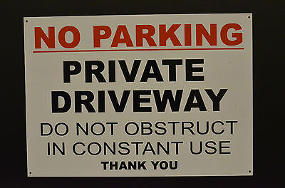 No Parking Private Driveway Do Not Obstruct Constant Use A3 Sign Or Sticker • 4.89£
