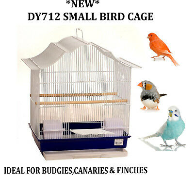 £27.99 • Buy *new* Dy712 White Ornate Budgie Canary Finch Small Bird Cage W/ Perches & Tray