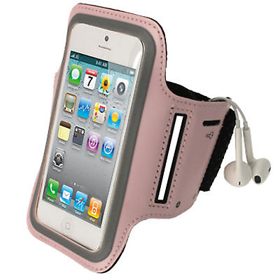 Pink Anti-Slip Sport Jogging Armband For New Apple IPhone 5 5S 5C Mobile 4G LTE • 2.29£