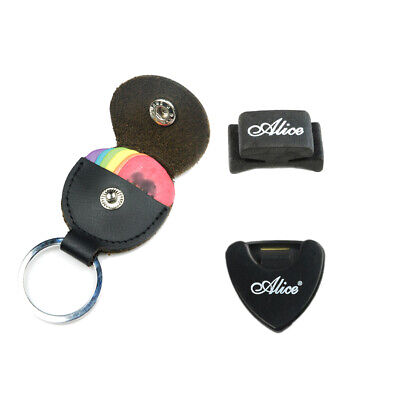 $ CDN8.82 • Buy Guitar Picks Holder Bag Case Keychain Design Genuine Leather & 6 Free Picks