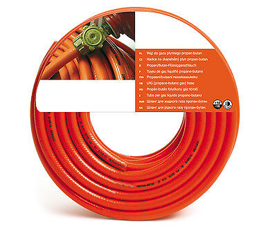 8mm Orange Ghl Propane Butane Lpg Calor Gas Rubber Hose Pipe Bbq Camping • 8.99£