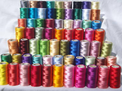 75 Spools Of  Embroidery Thread For Brother,Janome, Singer & More, 75 Colours • 82.99£