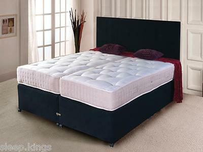 £429 • Buy Zip And Link Bed Divan Bed + Ortho Mattress And Headboard Storage Available