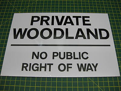 1 Private Woodland No Public Right Of Way  Sign • 4.44£
