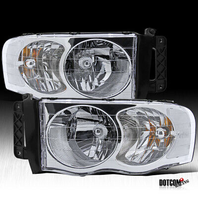 $68.39 • Buy Fit 2002-2005 Dodge Ram 1500 2500 3500 Pickup Crystal Clear Head Lights Pair
