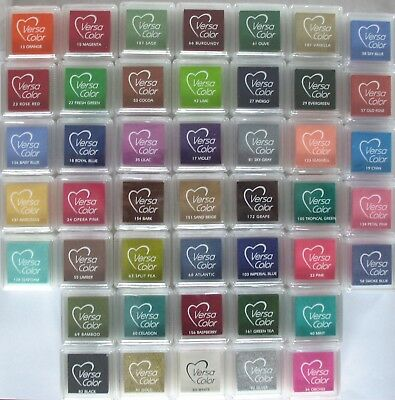 VersaColor Pigment INK PAD Small For Paper & Card  Assorted Colours You Choose! • 1.69£