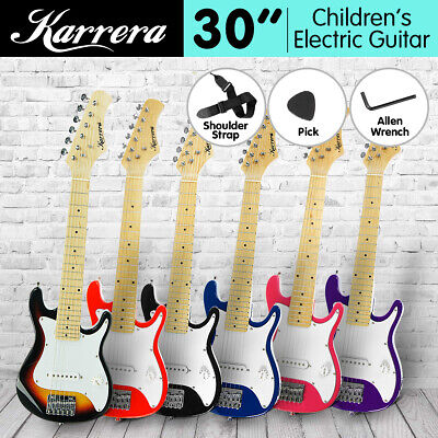 AU69 • Buy New Kid Karrera Electric Guitar And Children Gift Sunburst Black Blue Red Junior