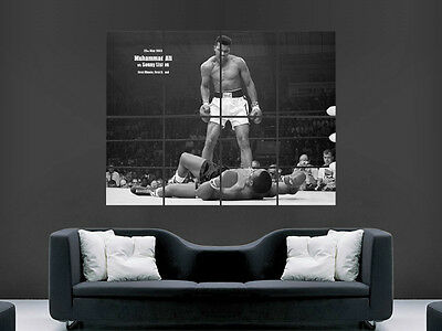 £17.99 • Buy Muhammed Ali Sonny Liston Boxing Art Giant Wall Poster  Picture Print Large