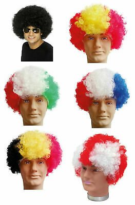 £2.95 • Buy  Patriotic Country Afro Wig Fancy Dress Costume, Party, Football
