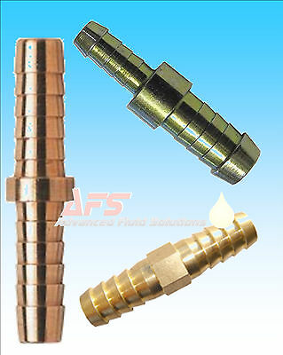 Metal Brass Straight Hose Joiner Barbed Connector Air Fuel Water Pipe Gas Tubing • 2.69£